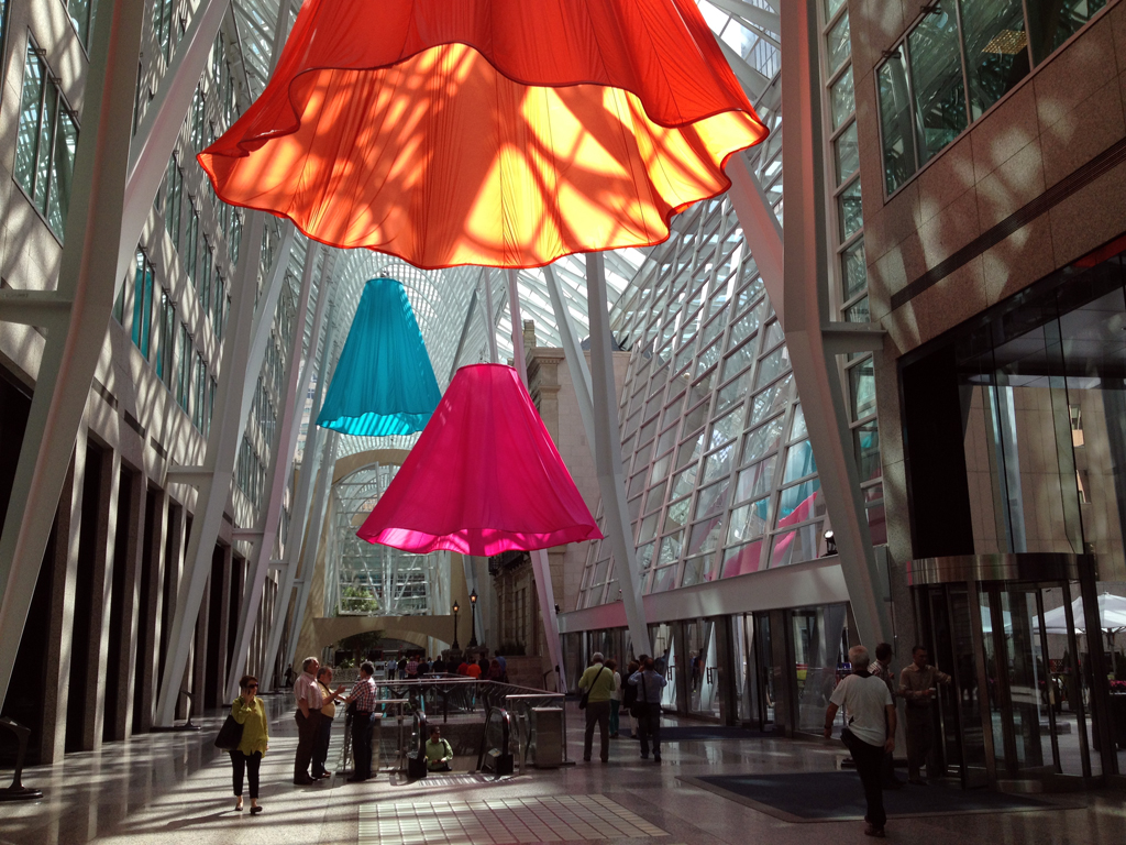 Soft Spin art installation at Brookfield Place