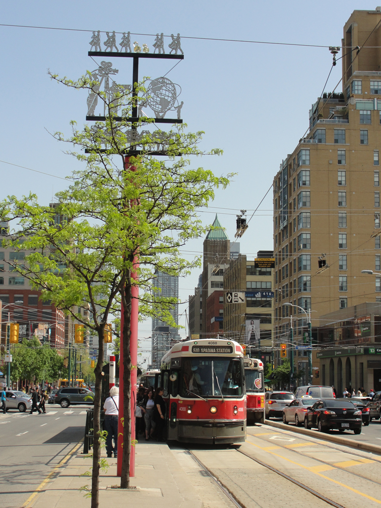 Spadina and Queen streetcar stop