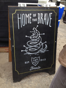 TUM - Home of the Brave sign