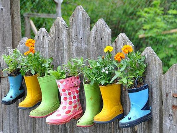 Rubber Boot Planters