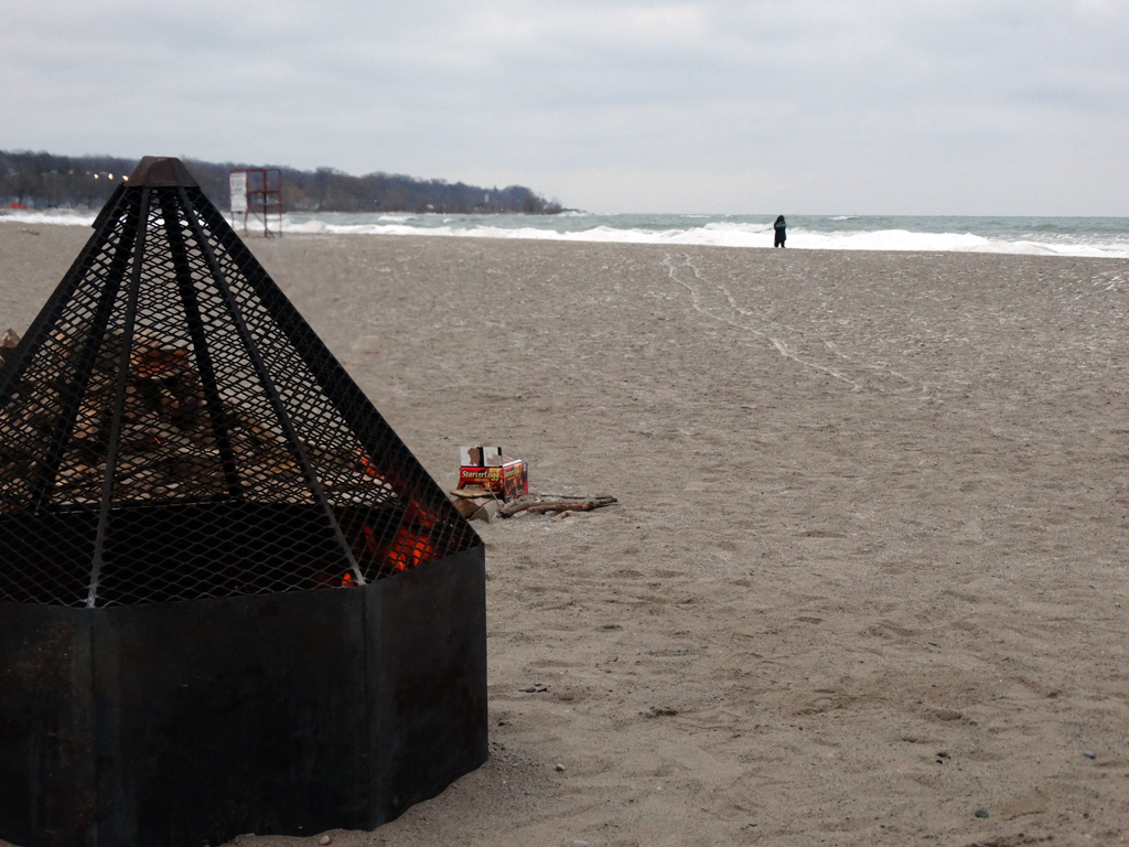Fire Place on the Beach
